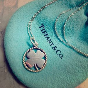 Tiffany's Clover Charm and Chain